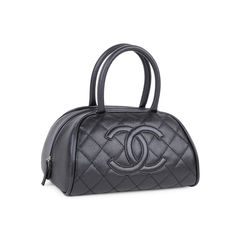 Chanel quilted caviar bowler tote bag 2?1546843663