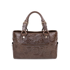 Boogie Embossed Leather Tote Bag