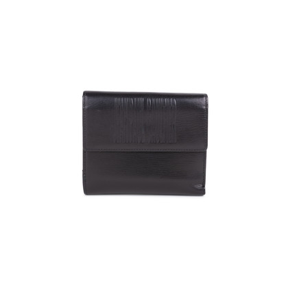 Authentic Second Hand Jean Paul Gaultier Black Embossed Leather Wallet (PSS-594-00016)