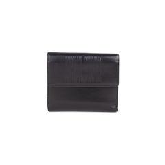 Black Embossed Leather Wallet