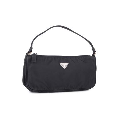Authentic Pre Owned Prada Tessuto Nylon Pochette Bag (PSS-594-00017)