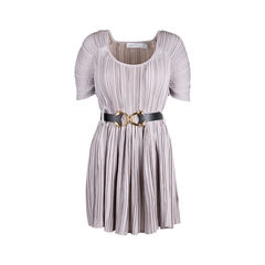 Pleated A-line Dress