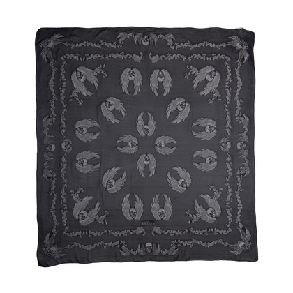 Authentic Pre Owned Alexander McQueen Skull Embroidered Scarf (PSS-193-00090)