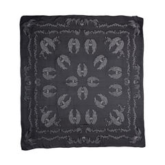 Skull Embroidered Scarf