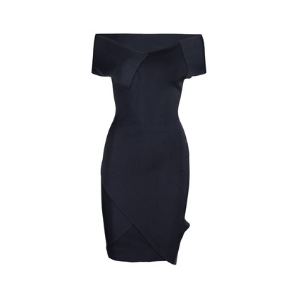 Authentic Pre Owned Roland Mouret Stretch Origami Dress with Ribbon Tie (PSS-014-00056)