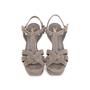 Authentic Second Hand Yves Saint Laurent Glitter Effect Tribute Sandals (PSS-328-00019) - Thumbnail 0