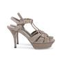 Authentic Second Hand Yves Saint Laurent Glitter Effect Tribute Sandals (PSS-328-00019) - Thumbnail 4