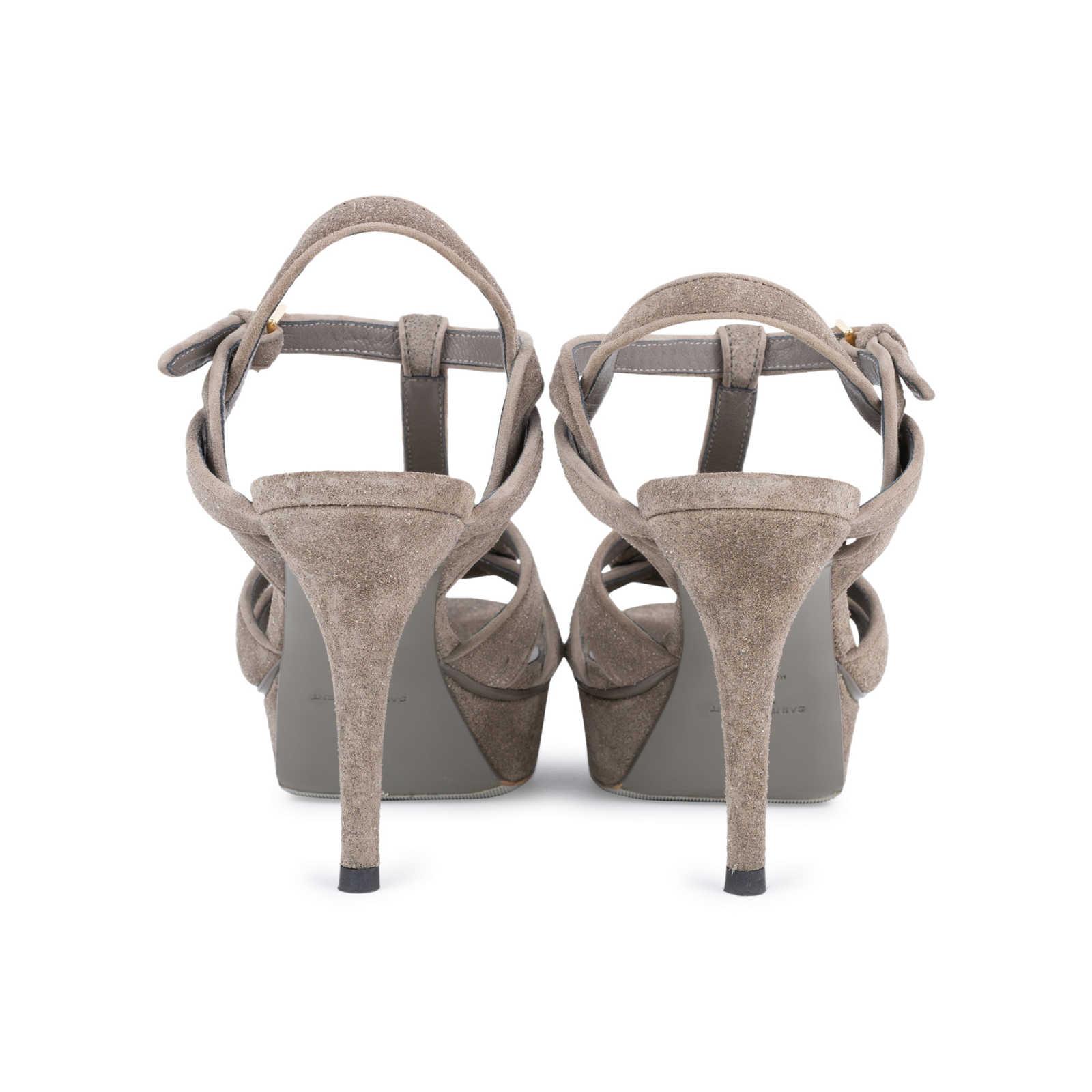 7c59b84034e ... Authentic Second Hand Yves Saint Laurent Glitter Effect Tribute Sandals  (PSS-328-00019