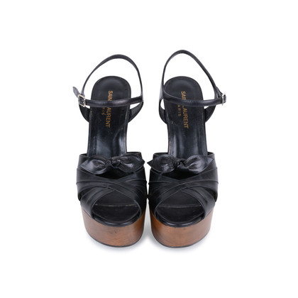 Authentic Pre Owned Saint Laurent Candy Wooden Platform Sandals (PSS-328-00020)