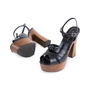 Authentic Pre Owned Saint Laurent Candy Wooden Platform Sandals (PSS-328-00020) - Thumbnail 1