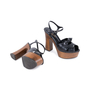 Authentic Pre Owned Saint Laurent Candy Wooden Platform Sandals (PSS-328-00020) - Thumbnail 2