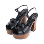 Authentic Pre Owned Saint Laurent Candy Wooden Platform Sandals (PSS-328-00020) - Thumbnail 3