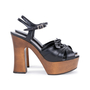Authentic Pre Owned Saint Laurent Candy Wooden Platform Sandals (PSS-328-00020) - Thumbnail 4