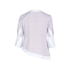 Carven asymmetrical striped cotton poplin top 2?1546939719