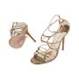 Authentic Second Hand Jimmy Choo Bronze Crisscross Sandals (PSS-377-00055) - Thumbnail 1