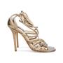 Authentic Second Hand Jimmy Choo Bronze Crisscross Sandals (PSS-377-00055) - Thumbnail 4