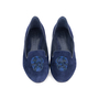 Authentic Second Hand Alexander McQueen Sequin Skull Suede Loafers (PSS-377-00057) - Thumbnail 0
