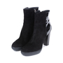 Authentic Pre Owned Tod's Suede and Patent Ankle Boots (PSS-377-00059) - Thumbnail 3