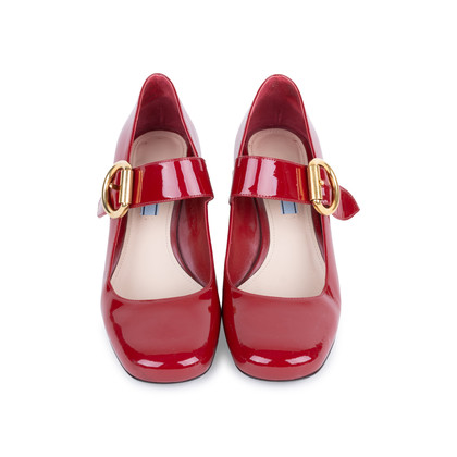 Authentic Pre Owned Prada Patent Mary-Jane Pumps (PSS-377-00060)