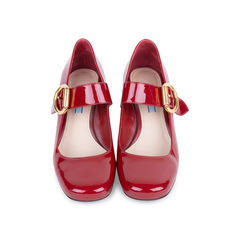 Patent Mary-Jane Pumps