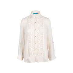 Lace Front Panel Shirt