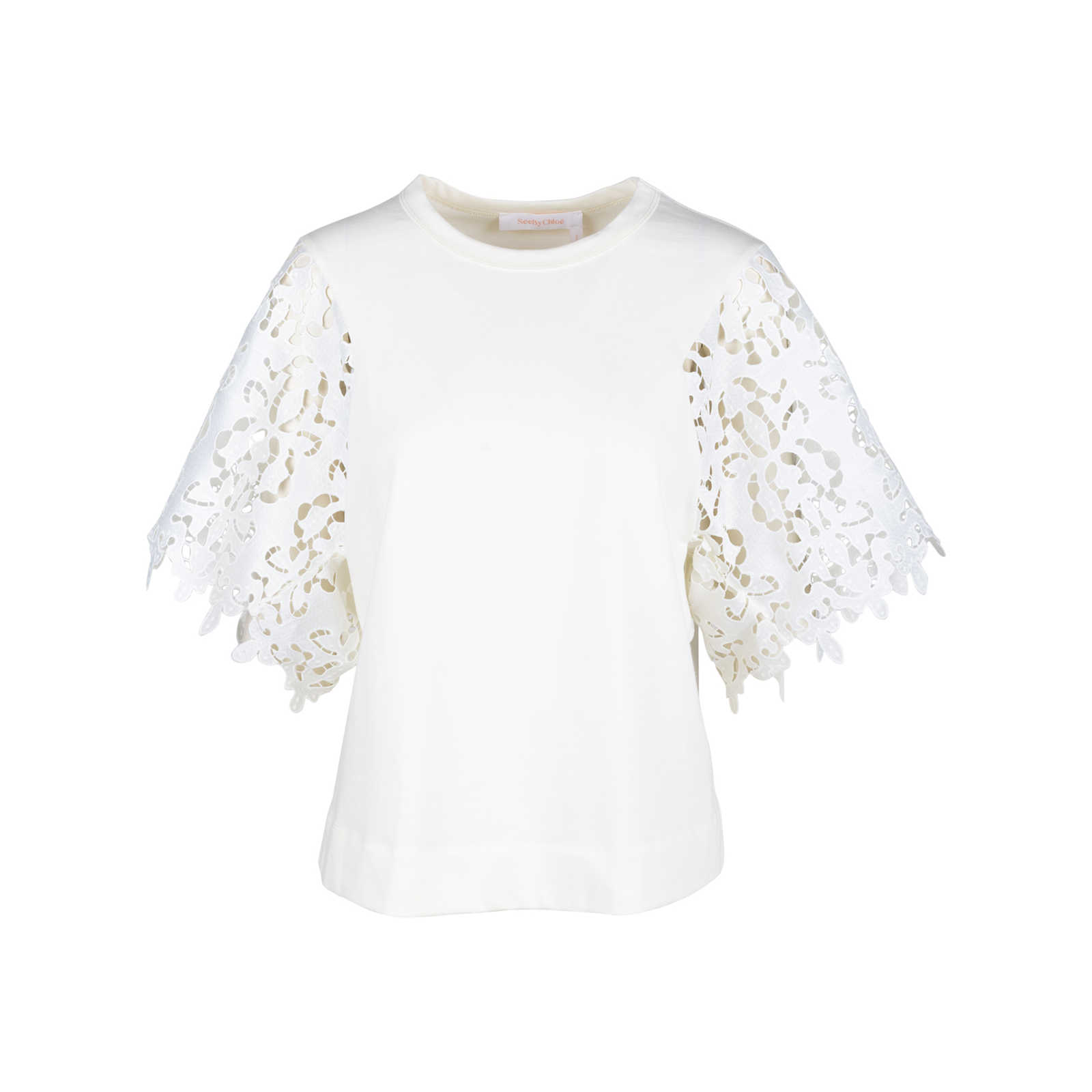 9fb24ab5 Authentic Second Hand See by Chloe Snow White Lace Blouse (PSS-578 ...