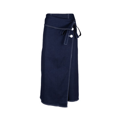 Authentic Second Hand Robert Rodriguez Denim Wrap Skirt (PSS-578-00006)