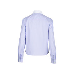 Prada bow ruffled striped shirt 2?1547010216