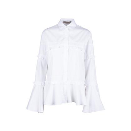Authentic Second Hand Preen by Thornton Bregazzi Suki Ruffled Trimmed Shirt (PSS-578-00008)