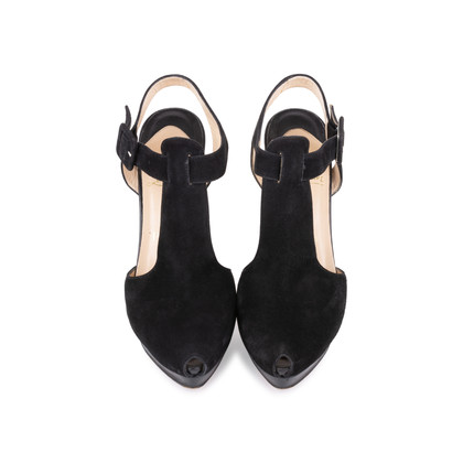 Authentic Second Hand Christian Louboutin Orlan Suede Sandals (PSS-585-00004)