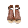 Authentic Pre Owned Céline Leather Espadrille Wedge Sandals (PSS-585-00006) - Thumbnail 0