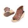 Authentic Pre Owned Céline Leather Espadrille Wedge Sandals (PSS-585-00006) - Thumbnail 1