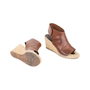 Authentic Pre Owned Céline Leather Espadrille Wedge Sandals (PSS-585-00006) - Thumbnail 2