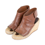 Authentic Pre Owned Céline Leather Espadrille Wedge Sandals (PSS-585-00006) - Thumbnail 3