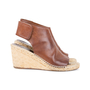 Authentic Pre Owned Céline Leather Espadrille Wedge Sandals (PSS-585-00006) - Thumbnail 4