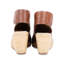 Authentic Pre Owned Céline Leather Espadrille Wedge Sandals (PSS-585-00006) - Thumbnail 5