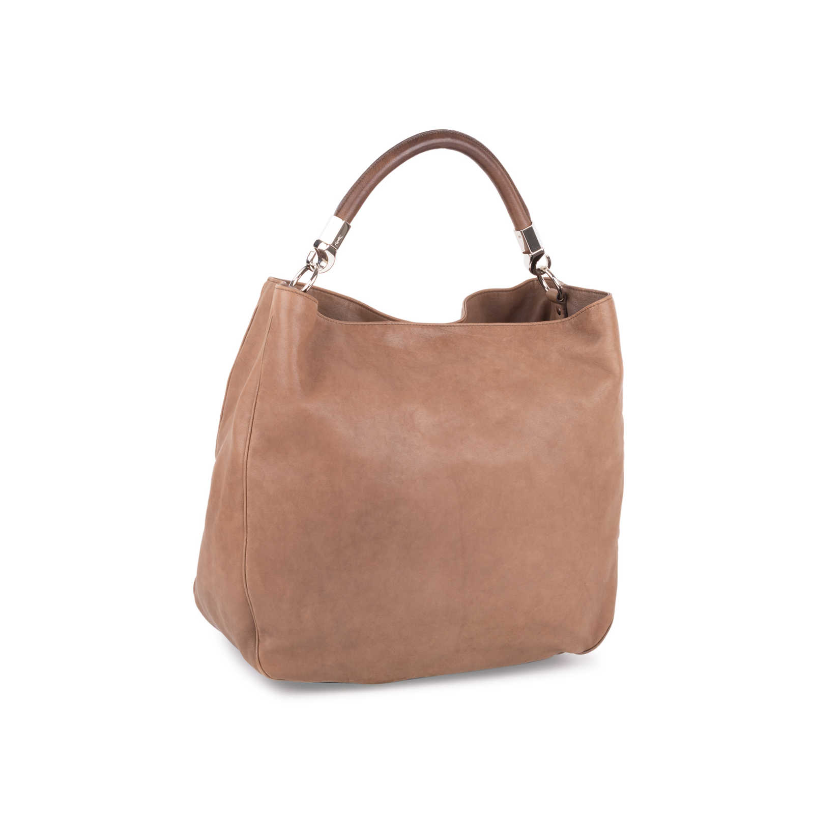379ec5a5d17 ... Authentic Second Hand Yves Saint Laurent Roady Leather Hobo Bag  (PSS-585-00011 ...