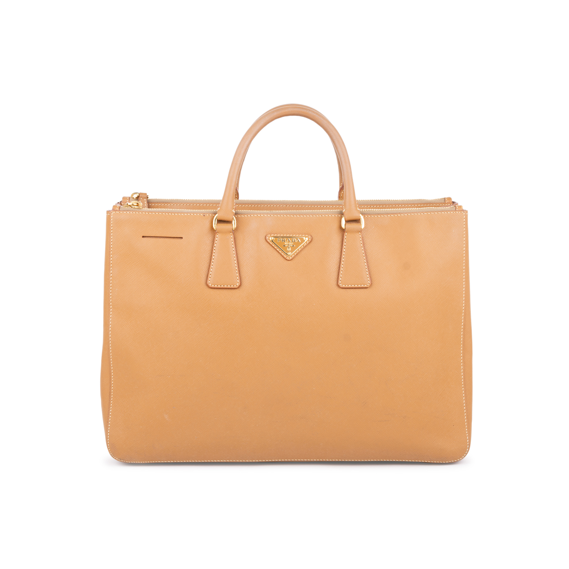 26e35c182f90 Authentic Second Hand Prada Saffiano Lux Double Zip Tote (PSS-585-00013) |  THE FIFTH COLLECTION