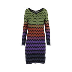 Multicoloured Knit Dress