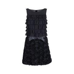 Ruffle Layered Rosette Dress