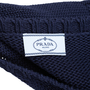 Authentic Second Hand Prada Navy Crochet Knit Dress (PSS-515-00230) - Thumbnail 3