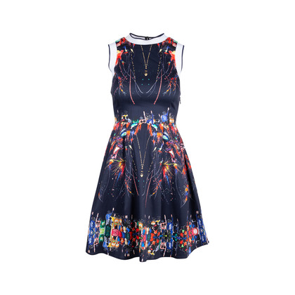 Authentic Second Hand Adolfo Dominguez Ribbed Neck Printed Dress (PSS-515-00231)
