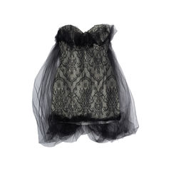 Strapless Lace Tulle Dress