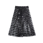 Authentic Second Hand Alberto Zambelli Sheer Striped Skirt (PSS-515-00247) - Thumbnail 0