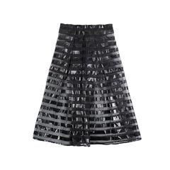 Sheer Striped Skirt