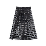 Authentic Pre Owned Alberto Zambelli Sheer Striped Skirt (PSS-515-00247) - Thumbnail 1