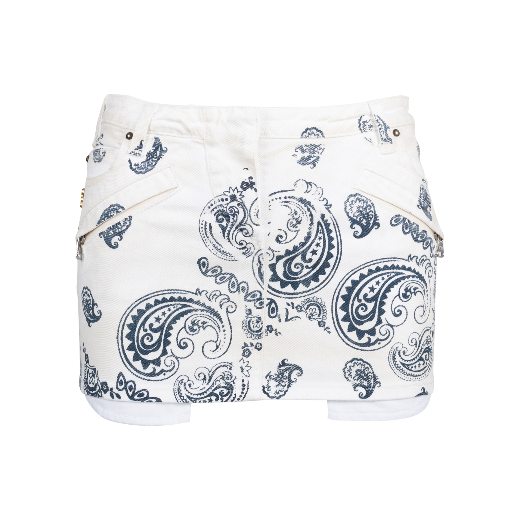 99fe3724f07e Authentic Second Hand Pierre Balmain Printed Denim Miniskirt  (PSS-515-00269)