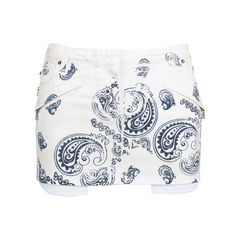 Printed Denim Miniskirt