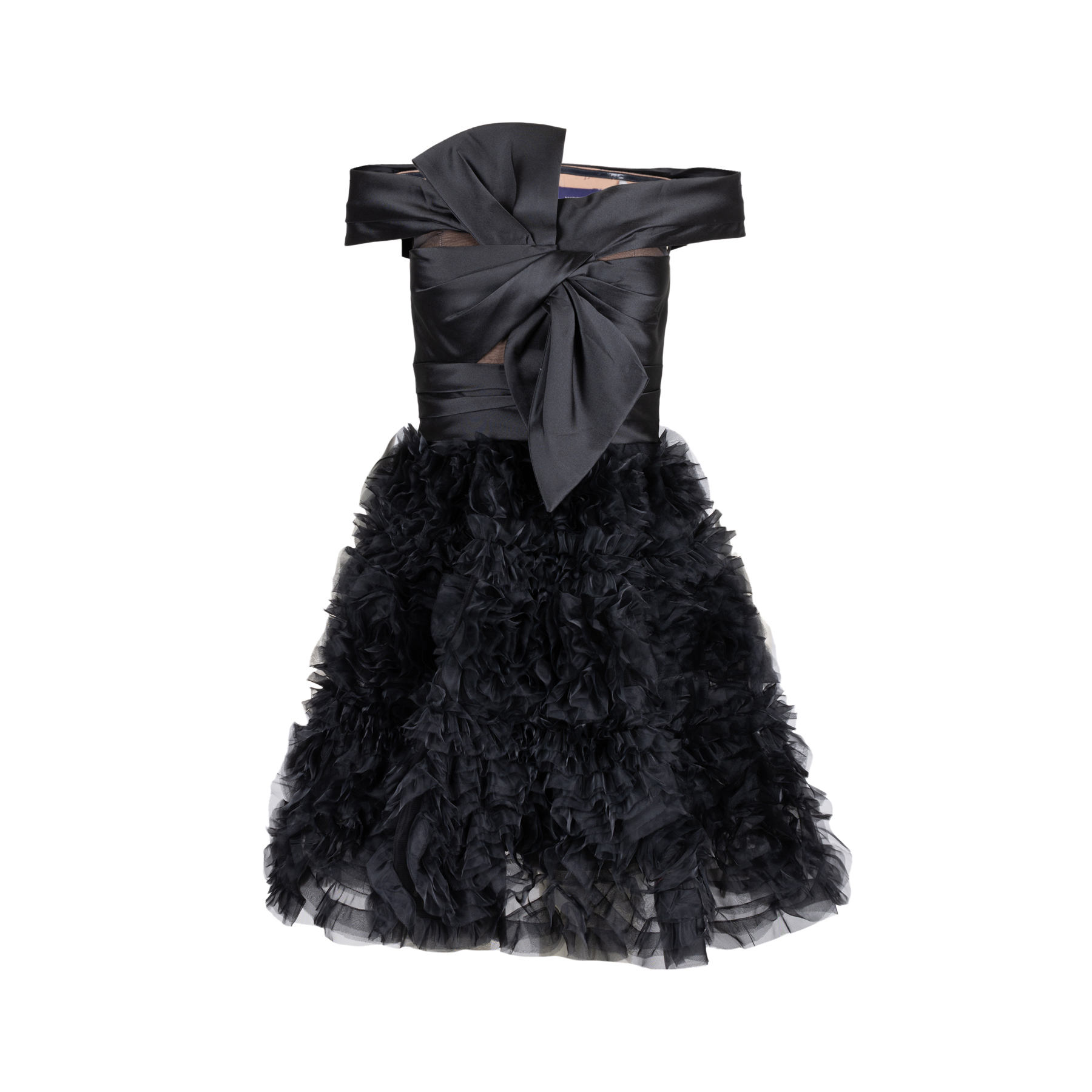 a568b947 Authentic Second Hand Marchesa Notte Off-Shoulder Ruffled Mini Dress  (PSS-515-00222) - THE FIFTH COLLECTION