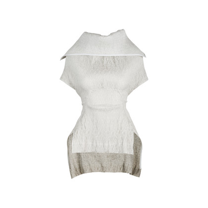 Authentic Second Hand Rick Owens Structured Ruched Top (PSS-515-00235)